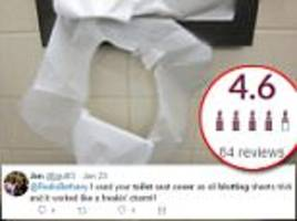 beauty fans use toilet seat covers as blotting paper