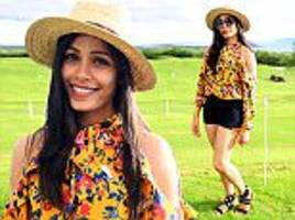 freida pinto is radiant in florals at maui film festival