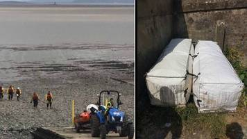boys rescued after 'boarding bags' at penarth pier