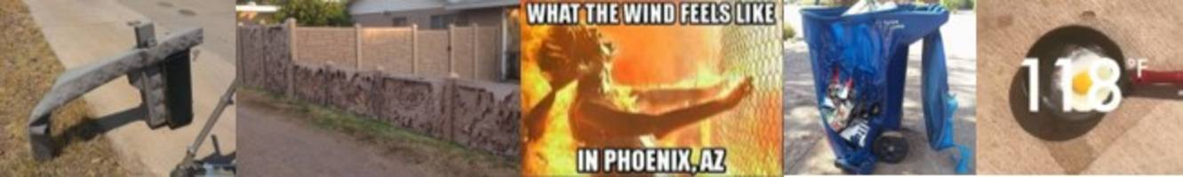 epic pictures from arizona's heatwave: everything is literally melting
