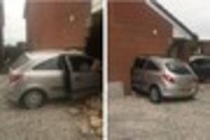 car ploughs into house in parkway, chellaston, after driver...