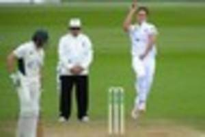derbyshire in a county first but fast bowling duo are still unfit