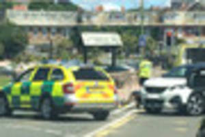 cyclist injured in collision with car on torquay seafront