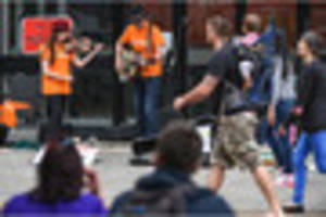 plymouth buskers stage mass performance for grenfell tower...