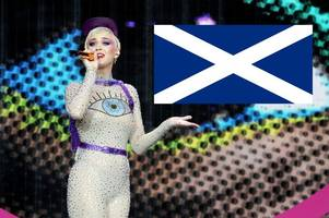 Katy Perry mocked after Glastonbury flag gaffe as she fails to recognise Saltire