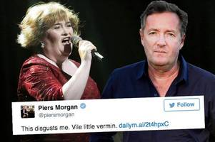 Piers Morgan blasts 'vile vermin' who hounded Britain's Got Talent star Susan Boyle