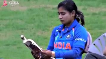 Indian cricket captain calmly reads book before batting