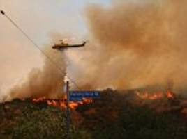 California residents use pool water to battle flames