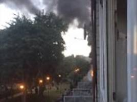 fire breaks out at north london tower block