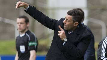 rangers: manager pedro caixinha leaves six senior players out of european squad