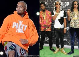 Fighting Over Karrueche? Chris Brown's Crew Allegedly Confronts Migos at BET Awards After-Party