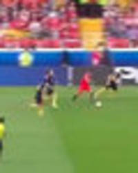 arsenal fans rave over clip of alexis sanchez dismantling australia with stunning solo run