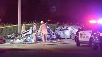 UPDATE: Man and two children killed in QEW crash :Police say a car veered into oncoming traffic and hit another vehicle carrying five people