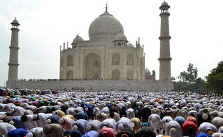 eid-ul-fitr being celebrated with traditional festivity & religious fervour in up