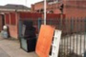 Rubbish, furniture and household appliances dumped in Derby city...