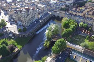 Drone footage offers Beechen Cliff GCSE students insight into Bath's River Avon flood defences from the air