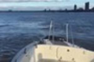 A lifeboat was launched from Gravesend in search of a man in the...