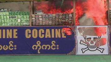 myanmar torches $385m of illegal drugs