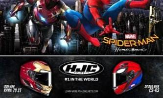 New Spider-Man And Iron Man Bike Helmets Released by HJC
