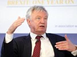 david davis says customs union not in transitional deal