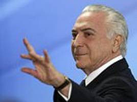 Brazil's president Michel Temer is accused of corruption
