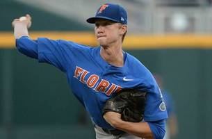 Singer strikes out 12 as Florida moves within 1 win of CWS title