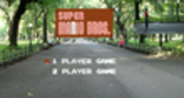 augmented reality brings super mario bros. to central park