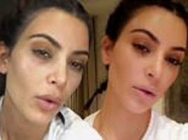Kim Kardashian goes makeup free and then made up