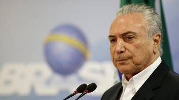 brazil's president is charged with corruption, accepting bribes