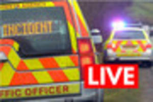 two lanes closed  on m5 after car and lorry crash in devon - live...