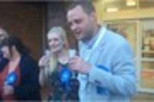 newly-elected mansfield mp ben bradley gives his maiden speech in...