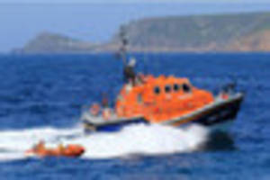 cornish fisherman airlifted to hospital after boat caught fire...