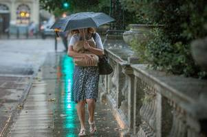 bath set for non-stop rain as met office issues weather warning for south of england