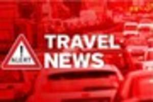 A120 blocked near Marks Tey due to an accident involving a lorry