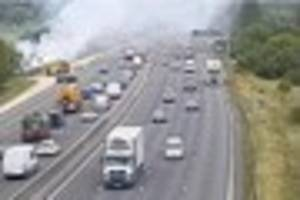 Live breaking news: Severe delays on M25 due to a vehicle fire