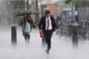 A severe weather warning of heavy rain has been issued for Kent