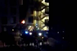 Students evacuated after 'massive' fire breaks out in block at night