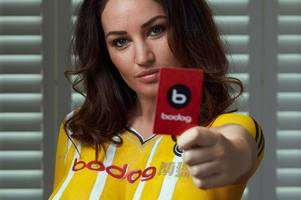 Ayr United send pulses racing once again as sponsors Bodog sign up top model to launch new season strip