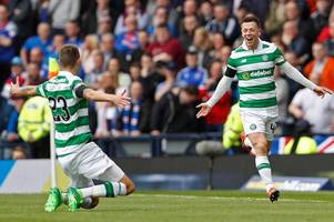 Celtic ace Callum McGregor reveals he was left celebrating Leigh Griffiths' Auld enemy double in group chat after snub