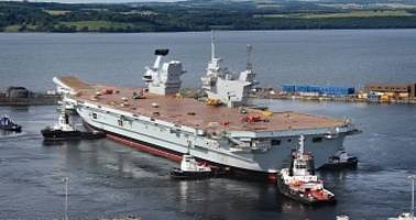 UK's Largest Warship HMS Queen Elizabeth Runs Windows XP