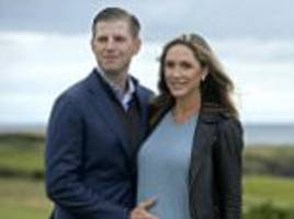 eric trump & wife lara fly to scotland golf course