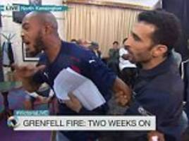 grenfell tower survivor confronts tory mp alok sharma