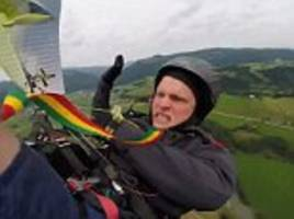 terrifying moment screaming paraglider plunges to earth