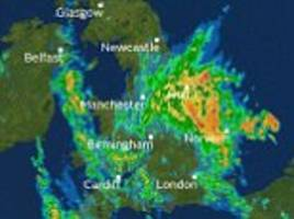 uk weather: more heavy downpours to hit britain this week