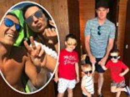 footballers on holiday: rooney enjoys lad's day out