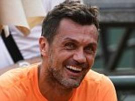 paolo maldini set to end tennis career after debut defeat