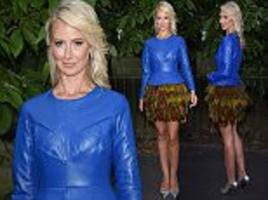 Lady Victoria Hervey turns heads in a leather peplum top