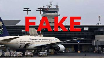 saudis complain at fake israel plane picture