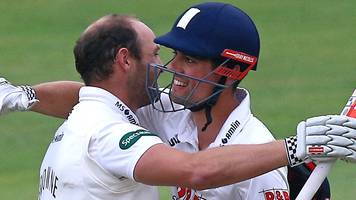 essex v middlesex: alastair cook and nick browne share record first-wicket partnership