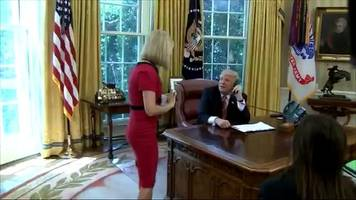 donald trump calls irish reporter over for a chat